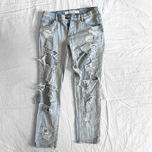 Brandy Melville Double Distressed Jeans